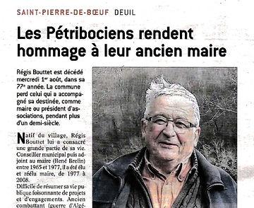Article décès Régis - Le Progrès 05 août