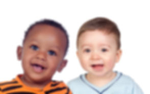 Two beautiful children looking at camera isolated on a white background.jpg