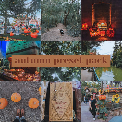 Autumn Preset Pack 2020 - For Lightroom Mobile
