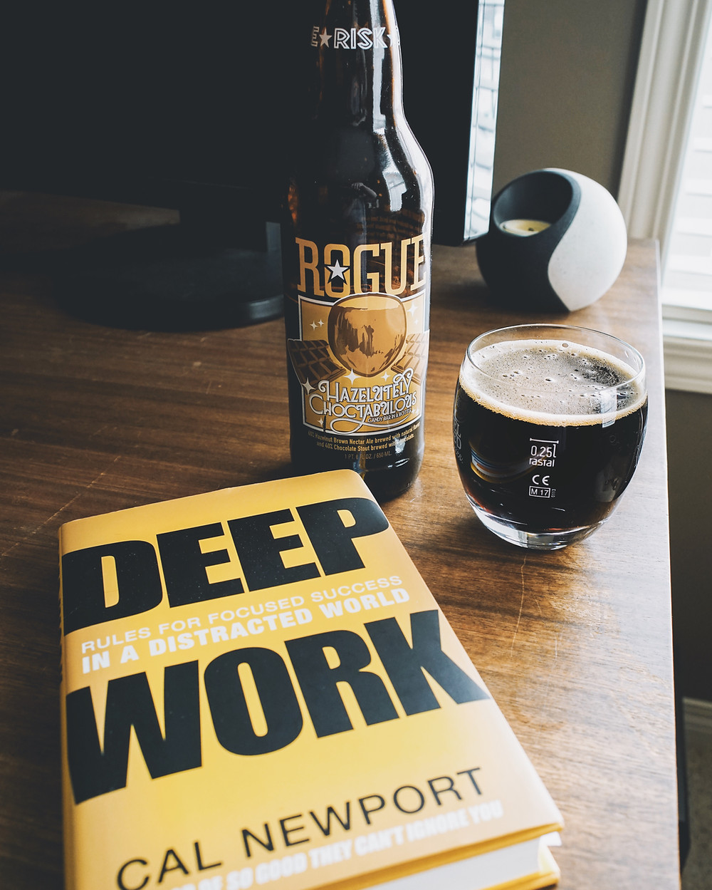 Rogue Ales Hazelutely Choctabulous & Cal Newport's Deep Work