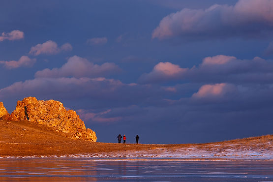 Закат на мысе Курма, Малое Море, Байкал,