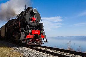 Паровоз на Кругобайкальской железной дор