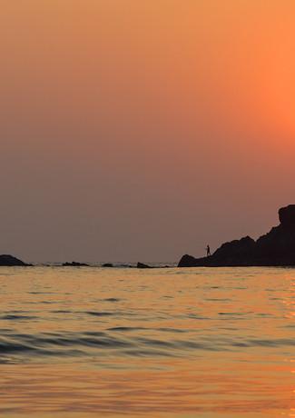 Закат на пляже в Гоа