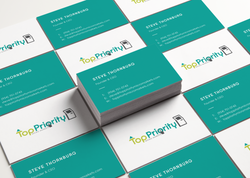 Top Priority Micro Markets Business Cards MockUp 2