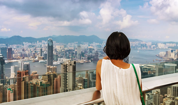 На пике Виктория в Гонконге