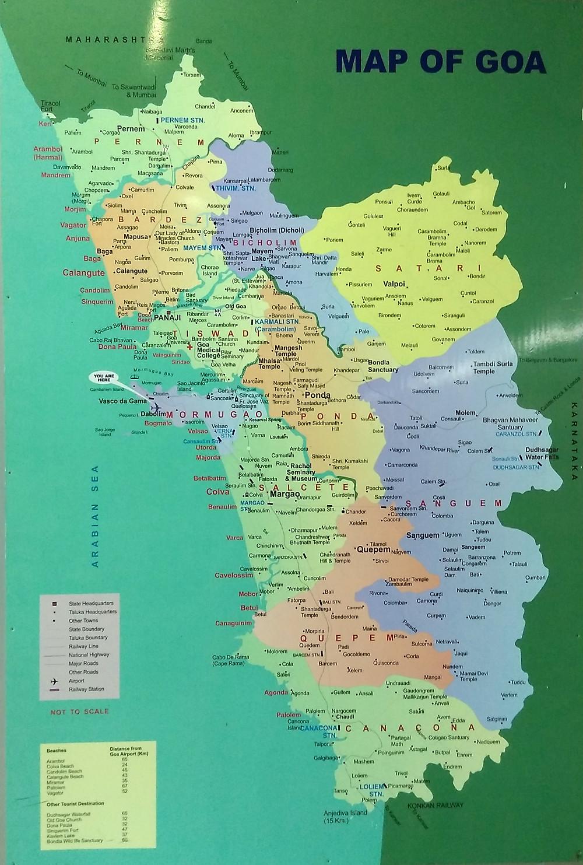 Карта Гоа в аэропорту