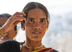 Индианка в Хампи, Индия