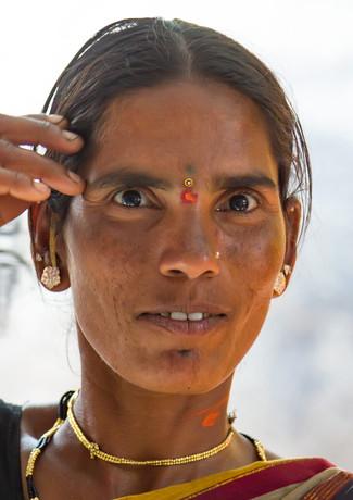 Индийская женщина в Хампи, Карнатака