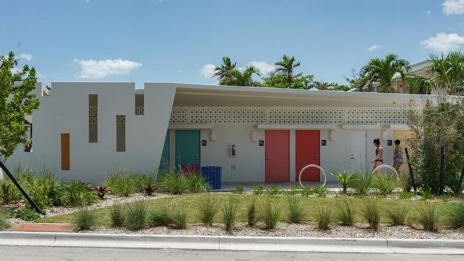 Lauderdale-By-The-Sea El Mar Restroom Building and Plaza