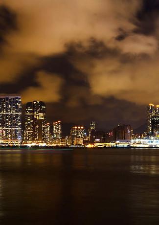 Ночной вид на остров Гонконг