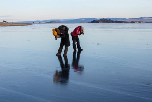 Участники фототура вышли на лёд!
