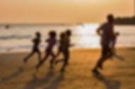 Пробежка на пляже в Гоа