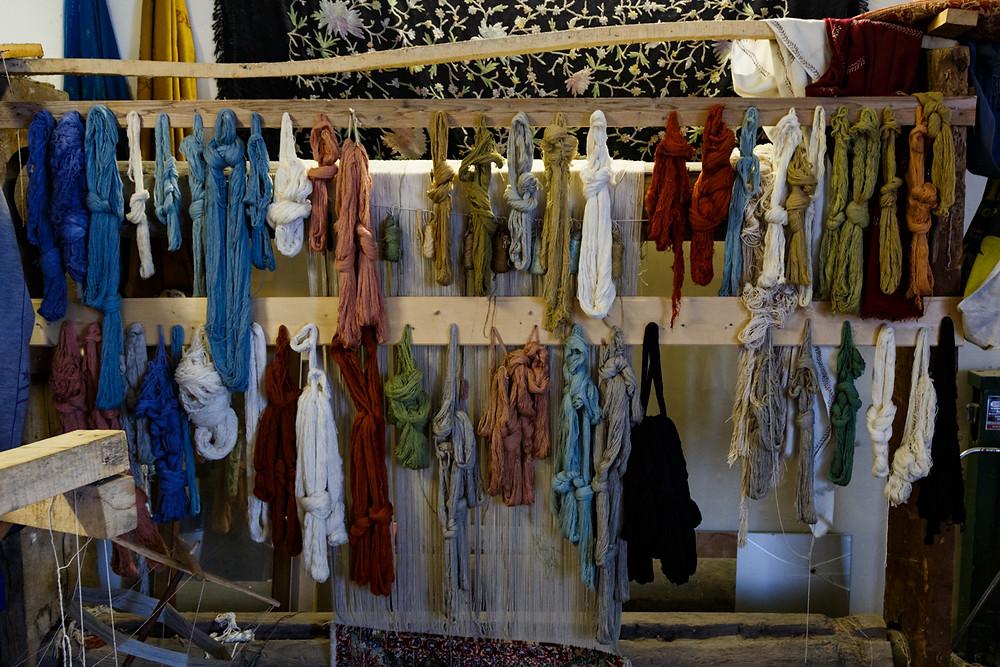 Шелковые нити для изготовления кашмирских ковров