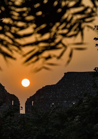 Закат в Дели