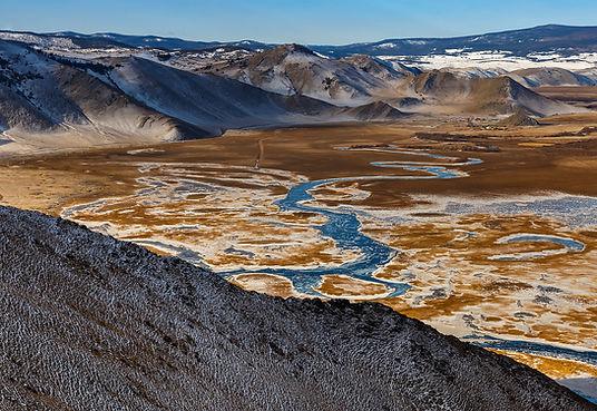 Устье Анги в Тажеранской степи по пути н