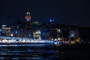 Ночной вид Стамбула с башней Галата