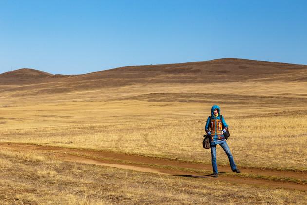Юля - участница фототура в Тажеранской степи