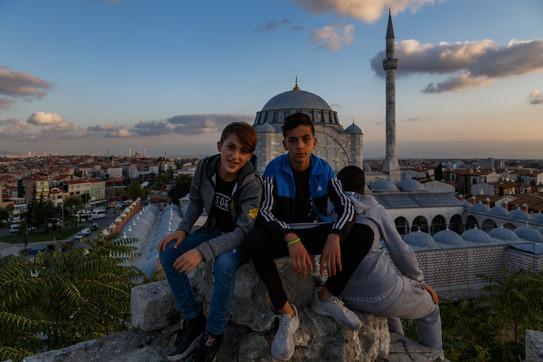 На крепостной стене выше района Балат, Стамбул