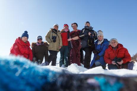 Группа фототура на Шарыжалгай в феврале 2020
