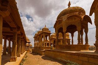 Старый архитектурный комплекс в Джейсалмере, Индия