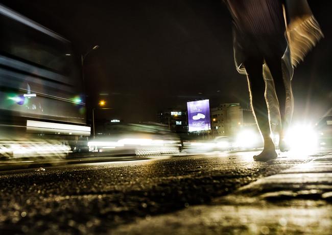 Вечерне движение в Бангалоре, Индия