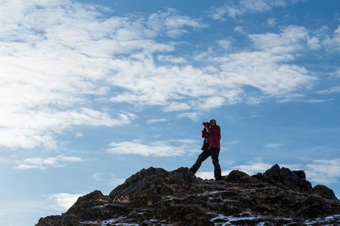 Татьяна - участник фототура на горе над Байкалом