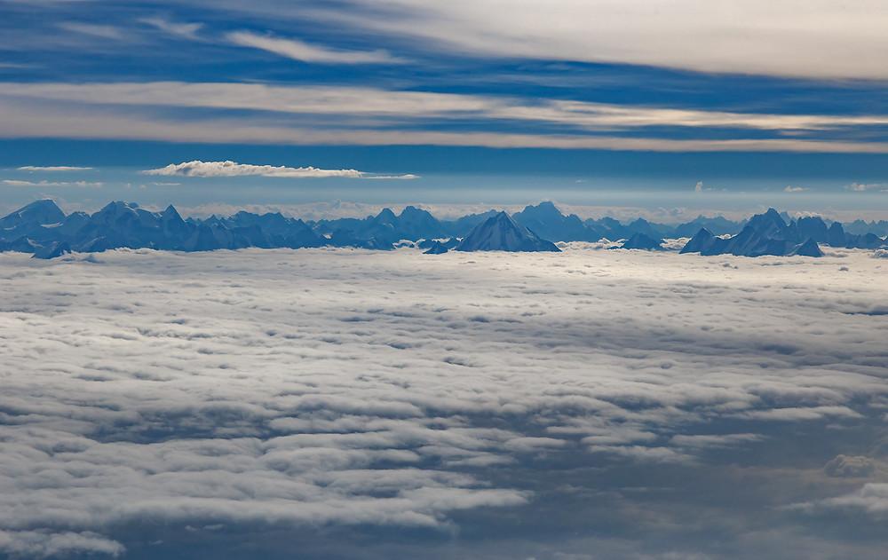Вид из самолёта по пути в Кашмир из Дели! ))