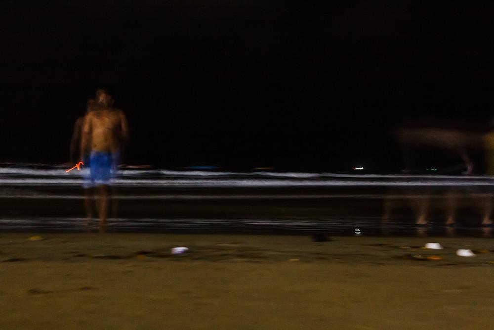 Вечером на пляже в Гоа