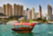 Прогулочный туристический кораблик в Гонконге
