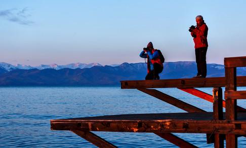 Фототурщики на рассвете