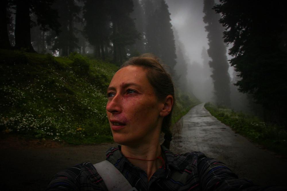 Селфи в туманном Гульмарге, Кашмир, Индия