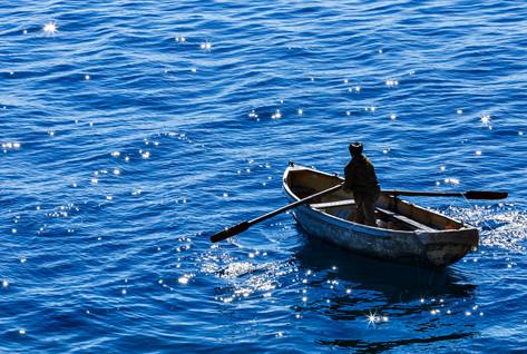Рыбак на Байкале