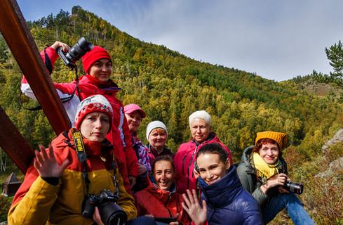Группа фототура в Шарыжалгай в сентябре 2019