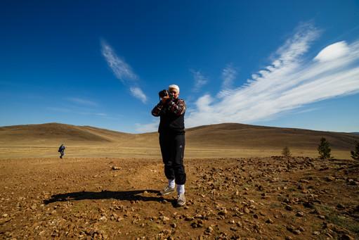 Татьяна - участница фототура в Тажеранской степи