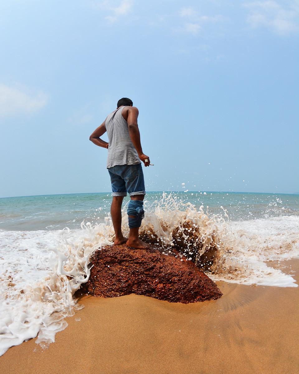 На пляже Кола в Гоа