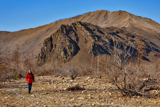 Фототур на Байкал. Артём перед Сарминским ущельем