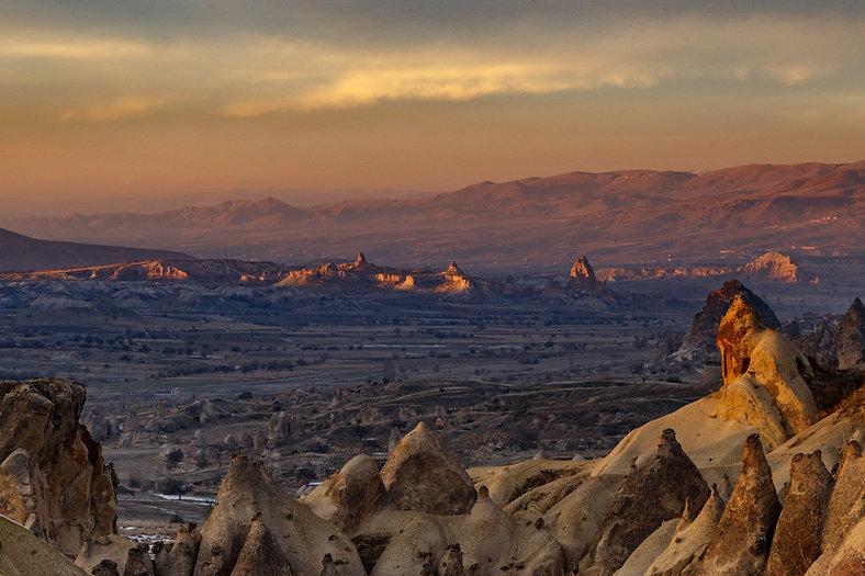 Каппадокия на закате, Турция