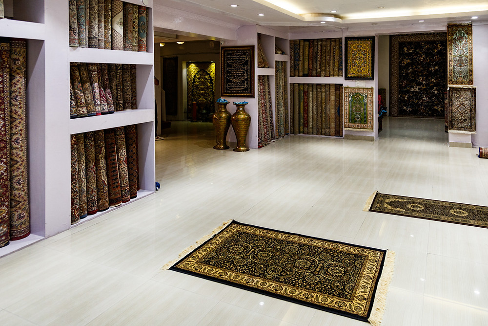 Готовые ковры в Кашмире, Шринагар, Индия