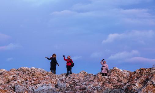 Наша слегка замёрзшая группа фототура в Уюгу в декабре