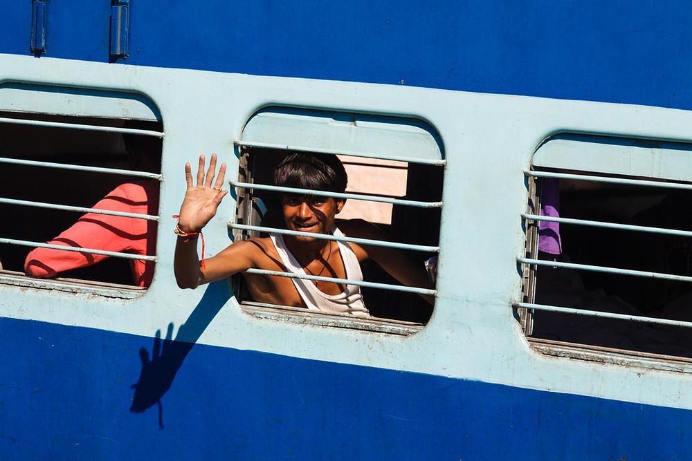 Пассажир в вагоне слиппер-класса