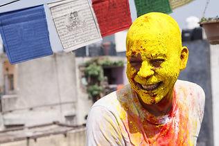 Празднование Холи в Дели