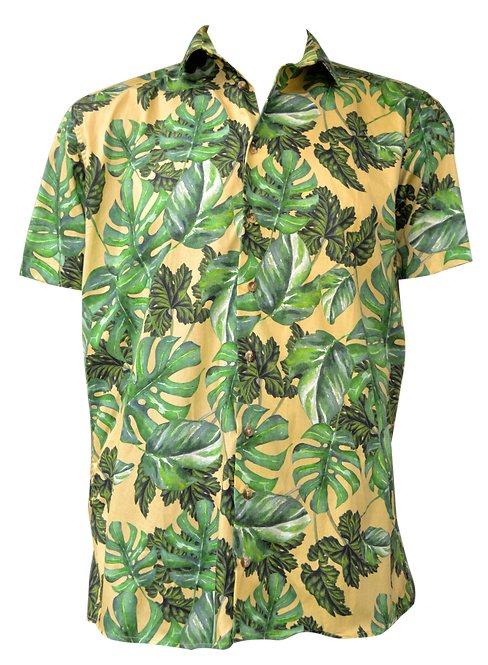 Camisa estampada modelo HOJAS AMA