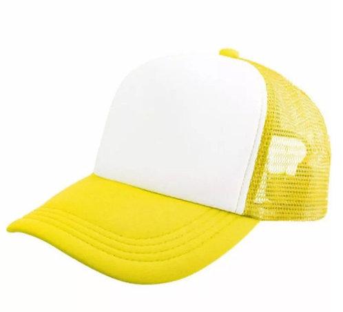 Gorro Trucker amarillo fluo