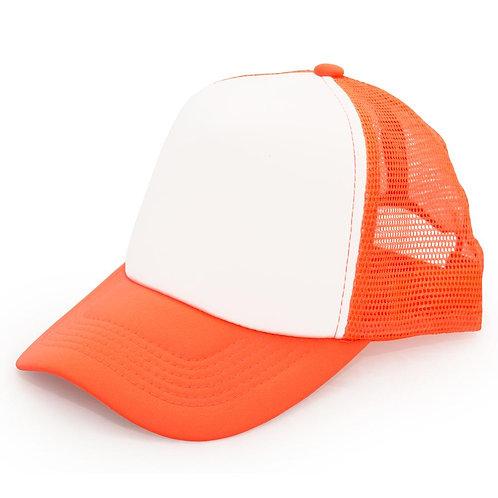 Gorro Trucker naranja fluo