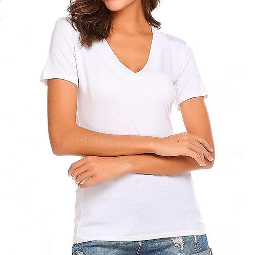 Camiseta escote V mujer