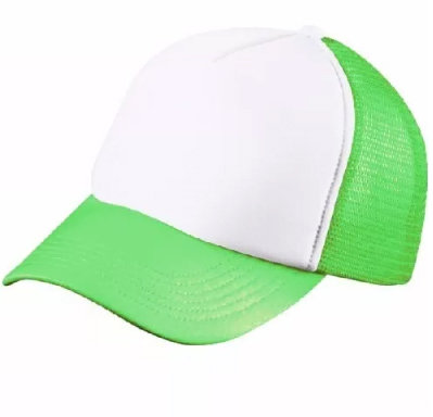 Gorro Trucker verde fluo