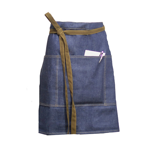 Delantal de jean corto