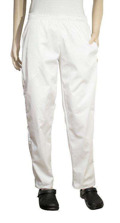 Vista frontal pantalon blanco