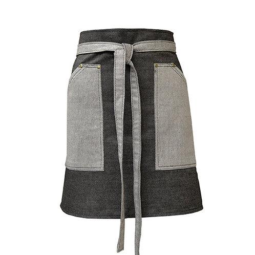 Delantal Dakota cortito bolsillo jardinero combinado