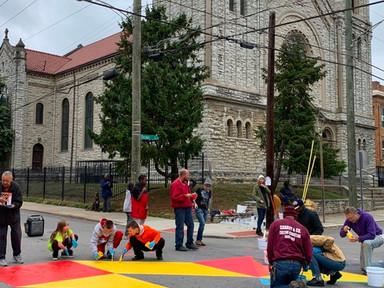 Cincinnati wants to calm traffic with street mural program - Smart Cities Dive